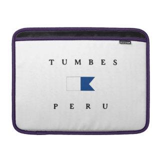 Bandera alfa de la zambullida de Tumbes Perú Funda Macbook Air