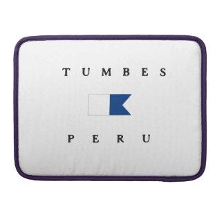 Bandera alfa de la zambullida de Tumbes Perú Funda Macbook Pro