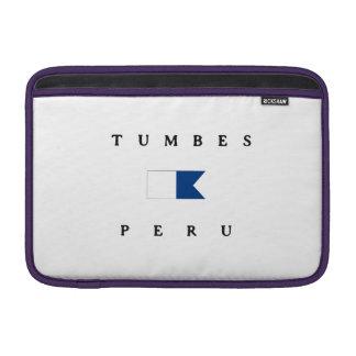 Bandera alfa de la zambullida de Tumbes Perú Fundas MacBook