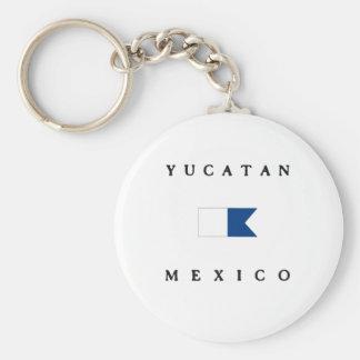 Bandera alfa de la zambullida de Yucatán México Llavero Personalizado