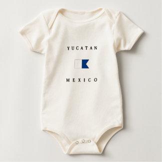 Bandera alfa de la zambullida de Yucatán México Mameluco