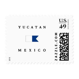 Bandera alfa de la zambullida de Yucatán México Sellos