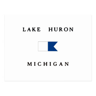 Bandera alfa de la zambullida del lago Hurón Tarjetas Postales
