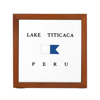 Bandera alfa de la zambullida del lago Titicaca