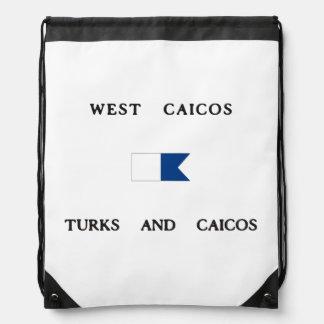 Bandera alfa del oeste de la zambullida de Caicos Mochila