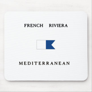 Bandera alfa francesa de la zambullida de riviera alfombrillas de ratón
