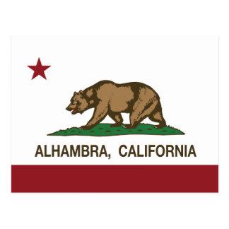 Bandera Alhambra del estado de California Postal