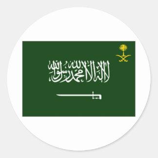 Bandera Alt de la Arabia Saudita Pegatina Redonda