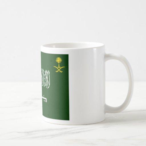 Bandera Alt de la Arabia Saudita Taza De Café