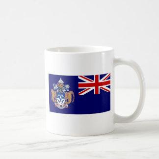 Bandera alt de Tristan DA Cunha Taza Básica Blanca