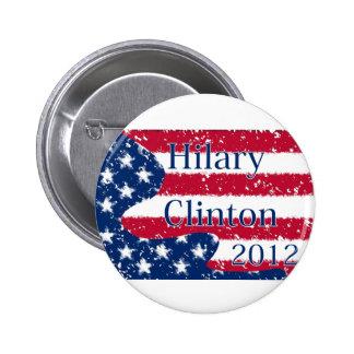 Bandera alterada de Hilary Clinton 2012 los E.E.U. Pin