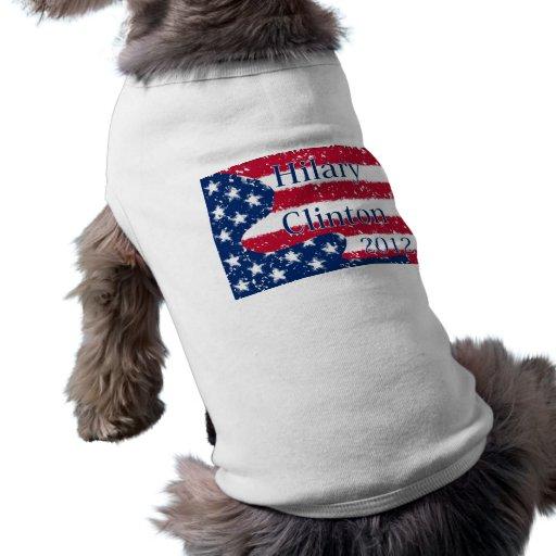 Bandera alterada de Hilary Clinton 2012 los E.E.U. Camiseta De Perro