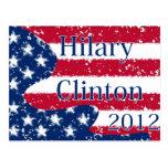 Bandera alterada de Hilary Clinton 2012 los E.E.U. Postales