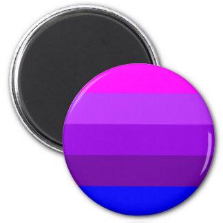 Bandera alternativa del orgullo del transexual imán redondo 5 cm