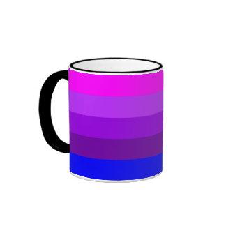 Bandera alternativa del orgullo del transexual taza de dos colores