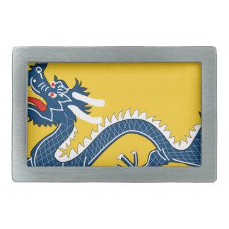 Bandera amarilla imperial del dragón, dinastía de hebillas de cinturón rectangulares
