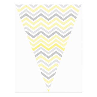 Bandera amarilla y gris del empavesado de la tarjeta postal