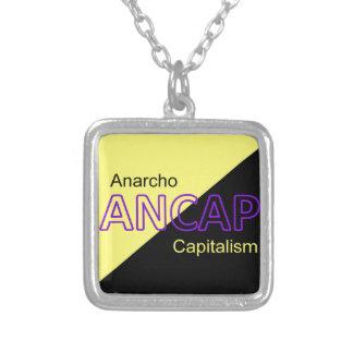 Bandera amarilla y negra de ANCAP Colgante Cuadrado