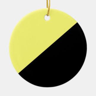 Bandera amarilla y negra del capitalismo de adorno redondo de cerámica