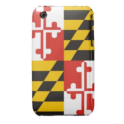 bandera América unida caso del estado de Maryland iPhone 3 Cárcasas