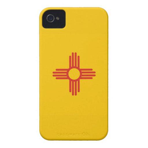 bandera América unida caso del estado de New Méxic iPhone 4 Cárcasa