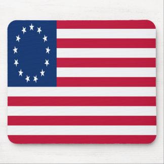 Bandera americana (13 estrellas) Mousepad Tapetes De Ratones