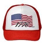 Bandera americana - 1776 gorras de camionero