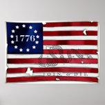 Bandera americana 1776 impresiones