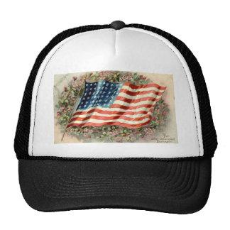 Bandera americana 1910 del día de decoración gorro