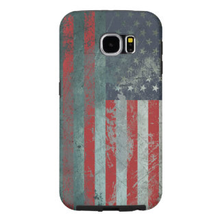 Bandera americana 1 del metal del Grunge Fundas Samsung Galaxy S6