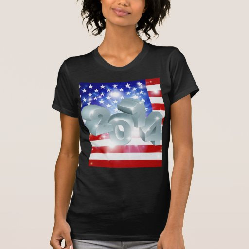 Bandera americana 2014 camiseta