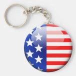 Bandera americana 2,0 llavero