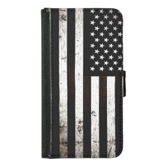 Bandera americana 2 del Grunge negro