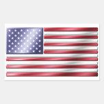 Bandera americana 2 - los E.E.U.U. - metálica Pegatina Rectangular