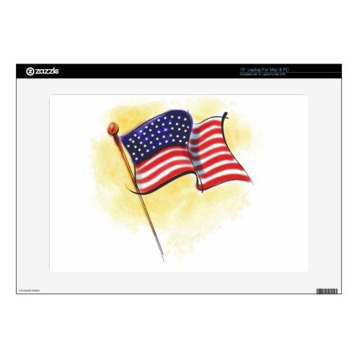 bandera americana 38,1cm portátil calcomanía