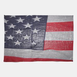bandera americana 3D Toallas De Mano