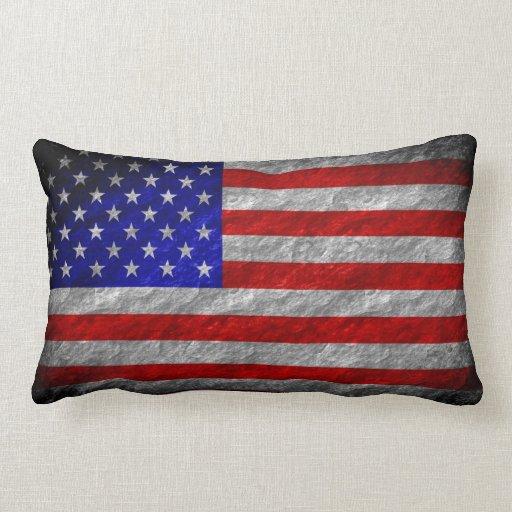 Bandera americana 4 del Grunge Cojines
