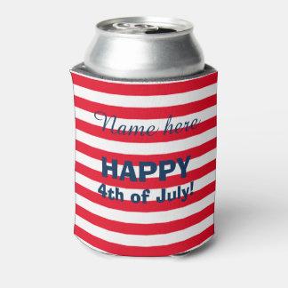 Bandera americana 4ta de los neveritas de bebidas enfriador de latas