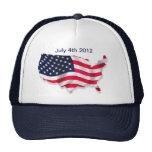 Bandera americana 4ta del gorra de julio