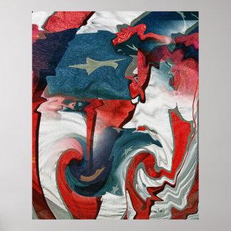 Bandera americana #91 póster