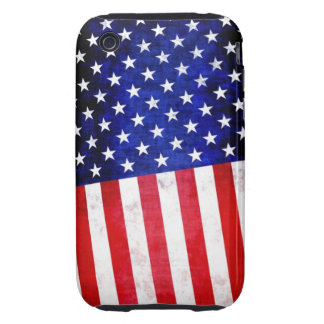 Bandera americana abstracta en el caso del iPhone iPhone 3 Tough Protector