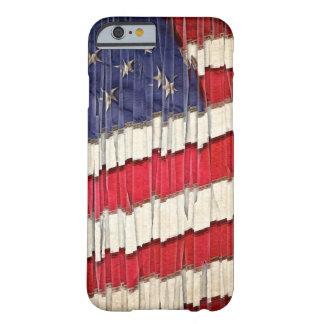 Bandera americana abstracta funda barely there iPhone 6