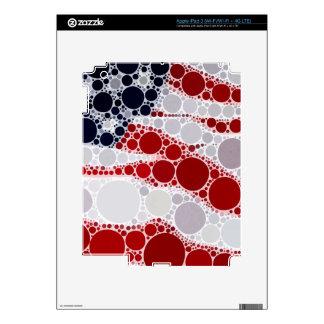 Bandera americana abstracta - impresión patriótica pegatina skin para iPad 3