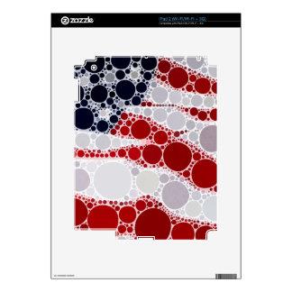 Bandera americana abstracta - impresión patriótica skins para iPad 2