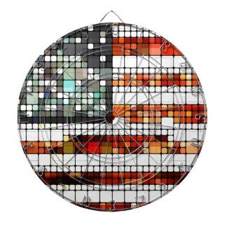 Bandera americana abstracta retra