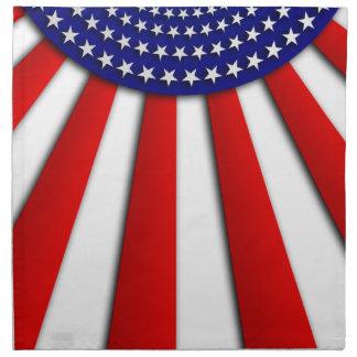 Bandera americana abstracta servilleta