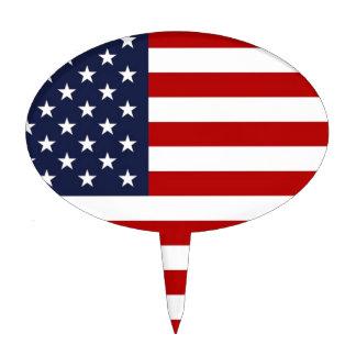 Bandera americana figura para tarta