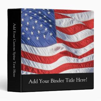 """Bandera americana, agitando en viento carpeta 1 1/2"""""""
