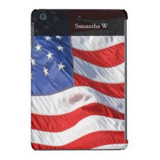 Bandera americana, agitando en viento fundas de iPad mini retina