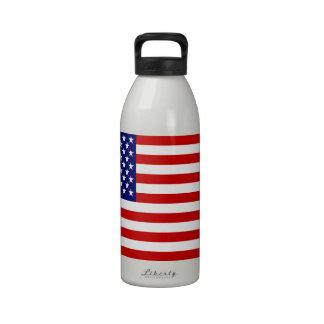 Bandera americana botella de beber